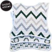 Lodger Slabbetjes Bibber Limited Edition 3 stuks - Zwart/wit Zigzag/triangle/bloemenprint