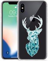 Apple iPhone Xs Max Hoesje Art Deco Deer