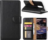 Nokia 7 Plus - Bookcase Zwart - portemonee hoesje
