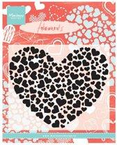 Marianne Design - Clearstamp - Heart XL - CS0951