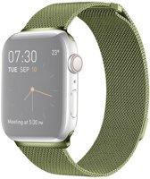 By Qubix Milanees bandje - Apple Watch Series 1/2/3/4 (42&44mm) - Groen