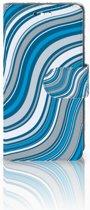 Sony Xperia XZ1 Compact Boekhoesje Design Waves Blue