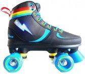 Move Rolschaatsen Quad Rainbow Junior Zwart Maat 39/40