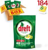 Dreft Original Citroen - Halfjaarbox 4x46 Stuks - Vaatwastabletten
