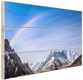Regenboog over Karakoram  Hout 60x40 cm - Foto print op Hout (Wanddecoratie)