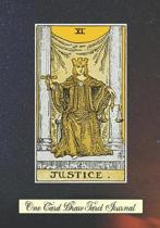 Justice One Card Draw Tarot Journal