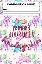 Composition Book Primary Journals Kindergarten: Unicorn Primary Composition Notebook, Back To School Supplies, Handwriting Practice Workbook, Learn Ho