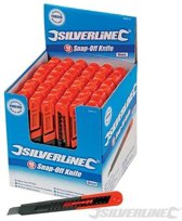 Silverline 9 mm afbreekmes displaydoos, 48 st.