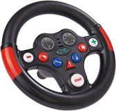 Big Racing-Sound-Wheel Zwart/Rood