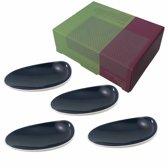 Cookplay Jomon Small Schaaltjes - 4-delig - Porselein - 14 x 11 cm - Zwart