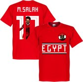 Egypte M. Salah 10 Gallery Team T-Shirt - Rood - XS