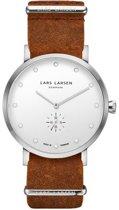 Lars Larsen  132SWCZ - Horloge  - Leer - Bruin - 41 mm