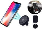Autohouder Zwart 360 Graden Draaibaar voor elke Ventilatie Rooster Magnetisch - voor onder andere Apple iPhone 7 (Plus) / 6/6s (Plus) / 5/5S/5C/SE / Samsung Galaxy S7 (Edge) / S6 (Edge) (Plus) / Huawei P10 (Lite) - Car Mount Holder Rotatable