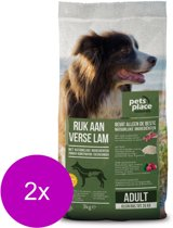 Pets Place Naturals Adult Small Breed Lam - Hondenvoer - 2 x 3 kg