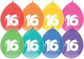 Ballonnen - 16 jaar - 8 stuks