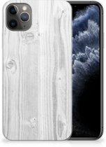 iPhone 11 Pro Max Bumper Hoesje White Wood