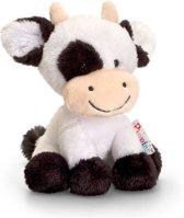 399a67bf778820 Keel Toys pluche zwart/witte koe/koeien knuffel 14 cm - Koe boerderijdieren  knuffeldieren