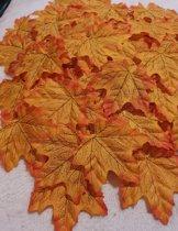 Herfstbladeren-Winterbladeren - Oranje - Lichtbruin - Set 100 stuks - Esdoorn