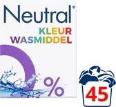 Neutral 0% Kleur Parfumvrij Waspoeder - 45 wasbeurten - 3 kg - Wasmiddel