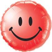 Folieballon smiley rood
