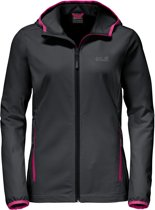 Jack Wolfskin Turbulence Jacket Women - dames - softshell - maat XL - grijs/roze