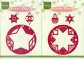 Marianne Designs Christmas Stencils Ster/Bal [ LET OP: RECHTSE FOTO ]