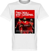 Liverpool Road To Kiev Finale 2018 T-Shirt - Wit - XS