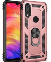 Teleplus Samsung Galaxy M20 Vega Ringed Tank Cover Case Rose Gold + Nano Screen Protector