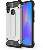 Let op type!! Diamond Armor PC + TPU warmte dissipatie beschermende case voor Huawei Nova 3i (zilver)