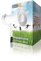 Megaphone 15 W Built-In Microphone White