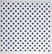 Speelkleed - Speelmat - Speeltapijt - Play Mat - Black Crosses - 110cmx110cm - Handgemaakt