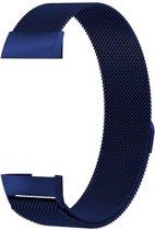 Fitbit Charge 3 Luxe Milanees bandje |Blauw / Blue| Premium kwaliteit | Maat: M/L | RVS |TrendParts