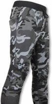 Maximal Camouflage - Slim Fit Ribbel - Joggingbroek - Grijs - Maten: S