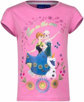 Disney Frozen shirt roze voor meisjes 128 (8 jaar)