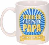 Voor de liefste papa mok / beker 300 ml - Vaderdag cadeau