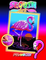 Sequin Art Pailletten Kunstwerk Frankie de Flamingo