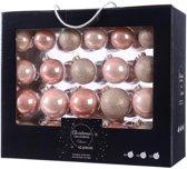 Glas Kerstballen Mix Doos 42 Stuks - Pink