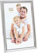 Deknudt Frames Fotokader met parelmotief,blinkend zilver