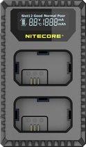 Nitecore USN1 Comp. Dubbel Lader voor NP-FW50 + USB