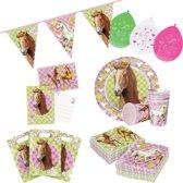 Paarden thema kinderfeestje versiering pakket 2-6 personen - Kinderverjaardag/kinderfeestje paard/pony thema pakket