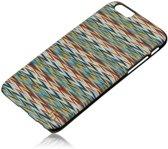Man&Wood Premium Eco Wood Case Enrico's Check Black voor Apple iPhone 6 / 6s