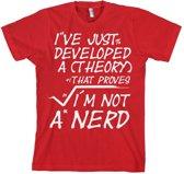 Merchandising GEEK - T-Shirt A Theory I'm Not a Nerd (XL)