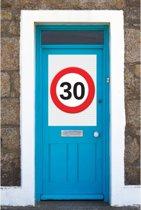 30 jaar verkeersbord mega deurposter
