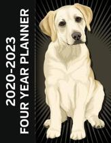Yellow Labrador Dog 2020 - 2023 Four Year Planner: Monthly Calendar, Notebook and More!