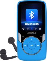 Difrnce MP1818 4GB Blauw - bluetooth MP4 speler