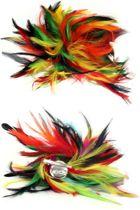 Veren hoofddecoratie bonte kleuren