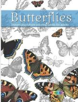 Butterflies Distressing nature coloring books for adults