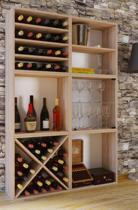 Wijnkast wijnrek - 6 vakken - voor 60 flessen - bruin