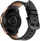 AA Commerce Kunstleren bandje - Samsung Galaxy Watch (42mm) - Zwart