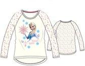 Frozen longsleeve shirt maat 110 wit